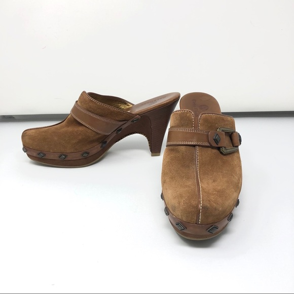 32a9bc2140b6c Cole Haan Shoes | Tovah Clog Camel Suede Size 75 | Poshmark